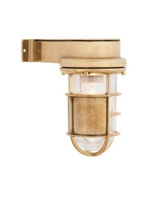 wall light aged brass with adjustable shield
