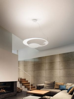 Glu Pendant_matt white_fabbian_gineico lighting