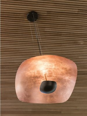Penombra copper pendant by Antonangeli_Gineico Lighting