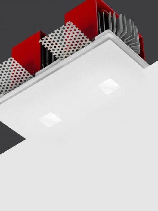 Twin Genius Square minimal downlight from Gineico Lighting