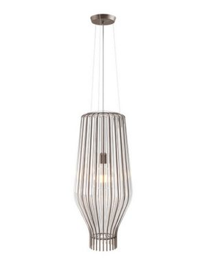 wire frame glass pendant light_Saya_Fabbian_from Gineico Lighting