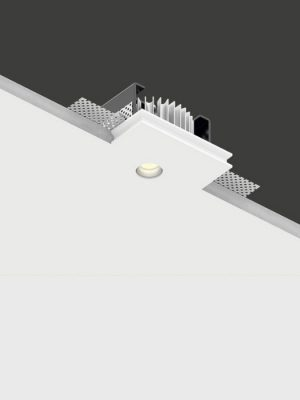 Genius basic flat_50mm recessed light_buzzi_ Gineico Lighting