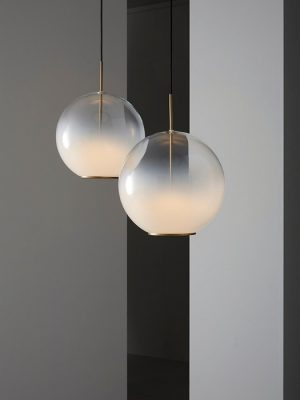 Misty_sphere_burnished brass_white glass_VeniceM_Gineico Lighting