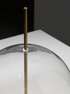 Misty_white blown glass_burnished brass_venicem_gineico lighting