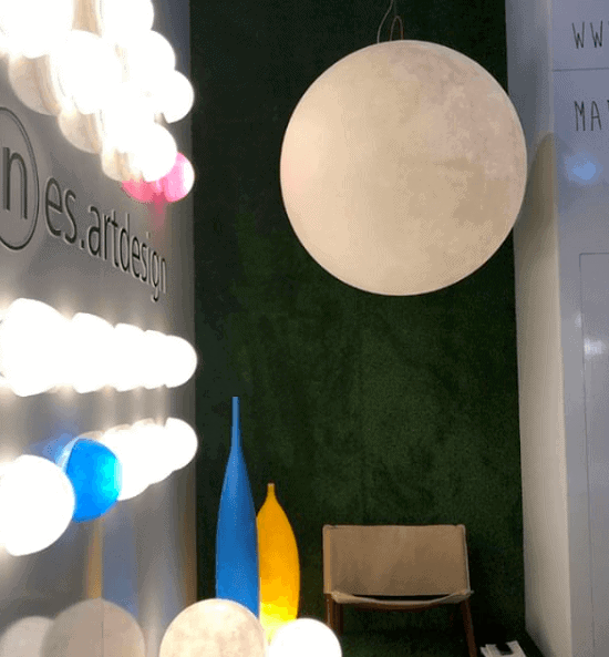 Gineico Lighting Luna Pendant Light Euroluce 2019