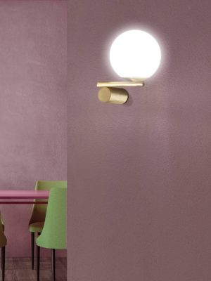 gold luna wall light - marchetti - gineico lighting
