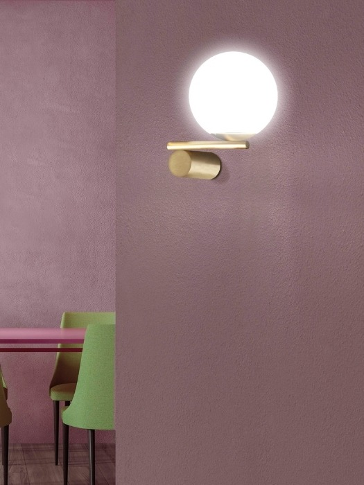luna wall_single arm_satin gold_marchetti_gineico lighting