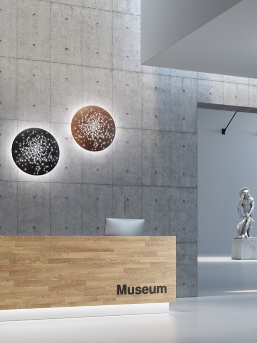lens F46_wall light_museum project_fabbian_gineico lighting