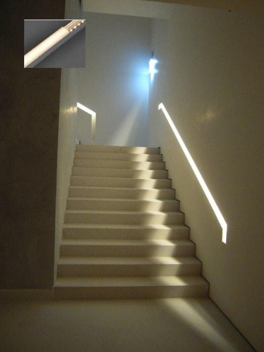 Luxx_LED strip light stairs_Gineico Lighting