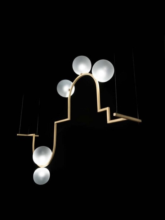 diapason A_chandelier_melogranoblu_gineico lighting