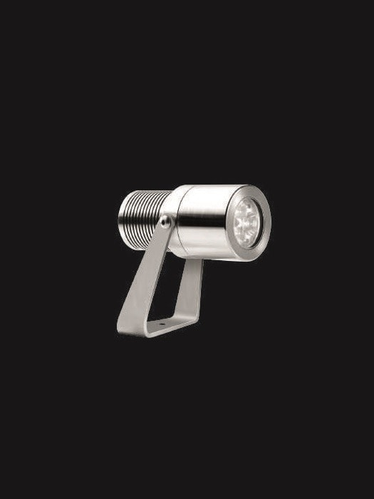 Adjustable exterior submersible IP68 AISI 316L stainless steel spotlight