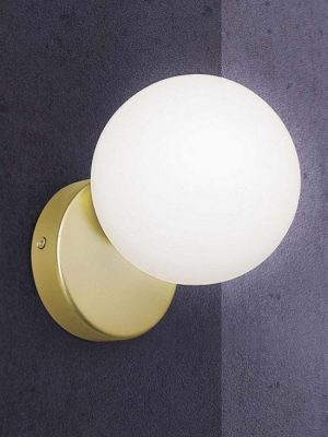 round wall light with gold base - gineico lighting - marchetti