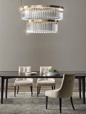 reflexa chandelier murano glass triedro - marchetti - gineico lighting
