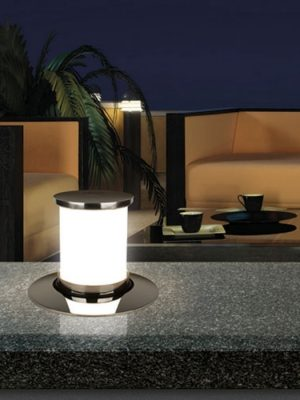 secret retractable lamp - quicklighting on bench - gineico lighting